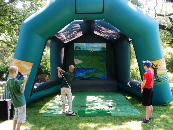 Golf-distance-caddy-Inflatable-Game-Chicago-Party-Rentals