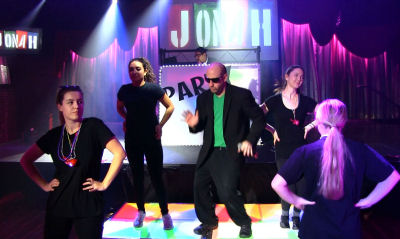 Dancers At A Bar Mitzvah Party