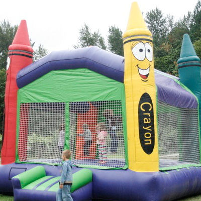Rental Crayon Bouncehouse At A Birthday Party