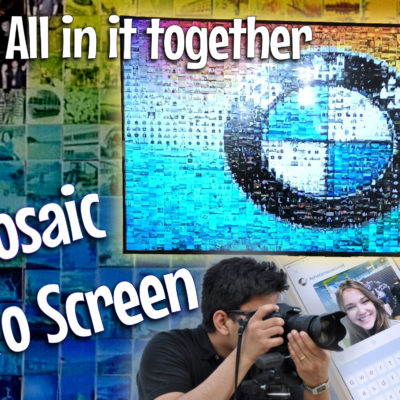 mosaic photo screen