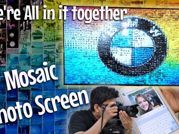 mosaic photo screen